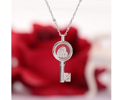 Strieborný náhrdelník s elementom Scrigno D`Amore SAMB34 (retiazka, prívesok)