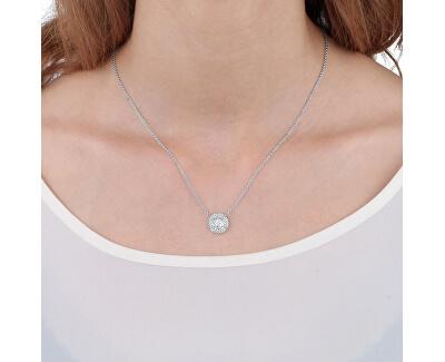 Strieborný náhrdelník s trblietavým príveskom Tesoro AIW64 (retiazka, prívesok)
