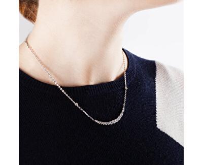 Strieborný náhrdelník so zirkónmi Tesoro SAIW01