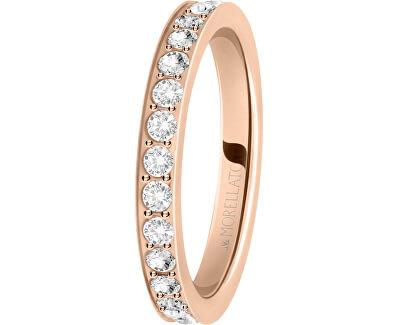 Bronzový prsteň s kryštálmi Love Rings SNA40