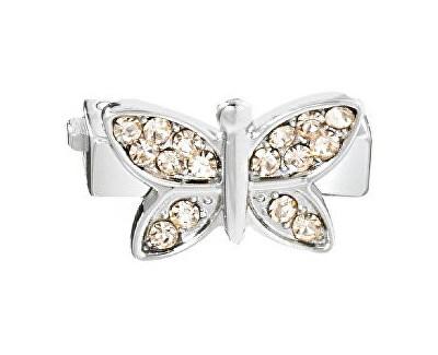 Accesoriu Fluture cu cristale aurii pentru brățară Sensazione SAJT11
