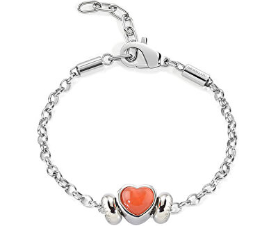 Ocelový náramek Drops Red Heart SCZ450