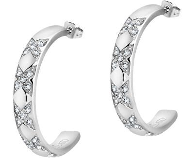 Ocelové náušnice kruhy s krystaly Cerchi SAKM69