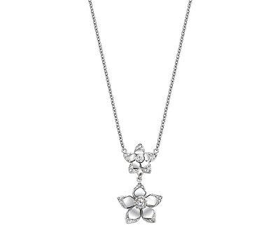 Colier din oțel cu flori SAJR02