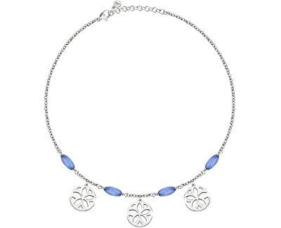Ocelový náhrdelník s přívěsky Fiore SATE02