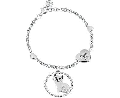 Oceľový náramok Cat talizmanov SAQE10