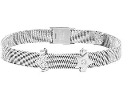 Edelstahl Armband mit Herz und Stern Sensazioni SAJU02