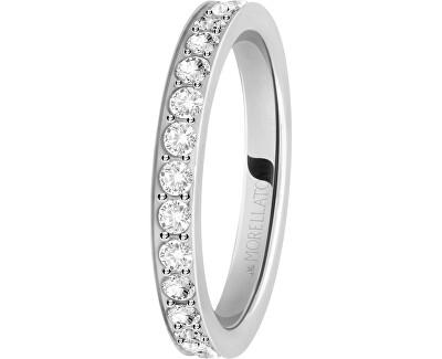 Ocelový prsten s krystaly Love Rings SNA41