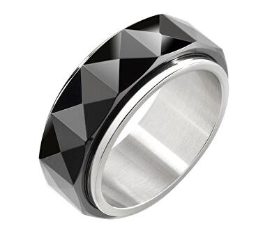 Inel de oțel pentru bărbați ceramice SAEV10