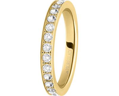 Pozlátený prsteň s kryštálmi Love Rings SNA39