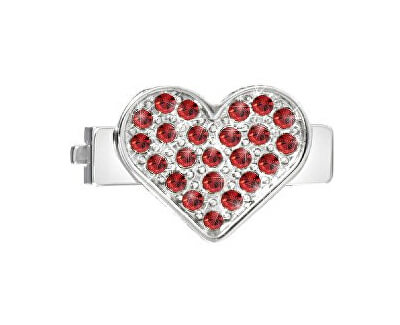 Inimă cu cristale roșii pentru brătări Sensazioni SAJT06