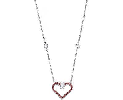Strieborný náhrdelník s trblietavým srdiečkom Cuori SAIV01