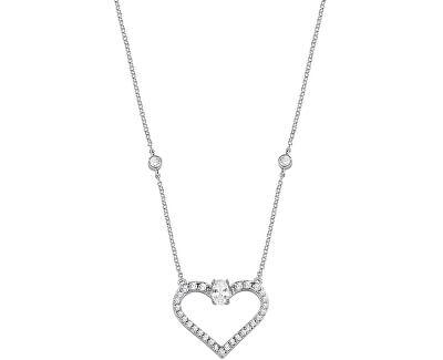 Strieborný náhrdelník s trblietavým srdiečkom Cuori SAIV02