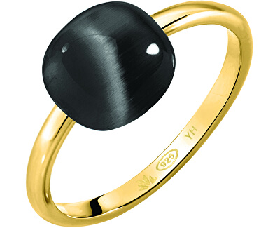 Pozlátený prsteň Gemma SAKK104