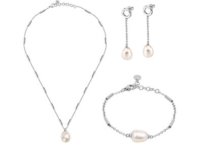 Zvýhodněná ocelová sada šperků Oriente SARI12, SARI14, SARI10 (náhrdelník, náramek, náušnice)