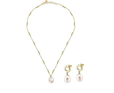 Zvýhodněná sada šperků s pravými perlami Oriente SARI03, SARI04 (náhrdelník, náušnice)