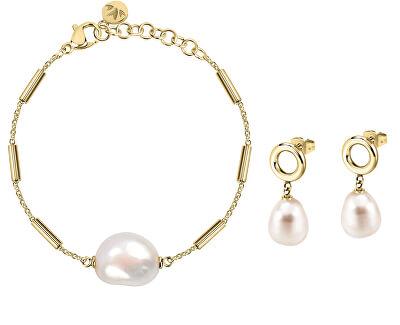 Zvýhodněná sada šperků s pravými perlami Oriente SARI07, SARI04 (náramek, náušnice)