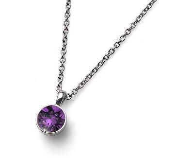 Halskette mit lila Kristall Ocean Uno 11740 204
