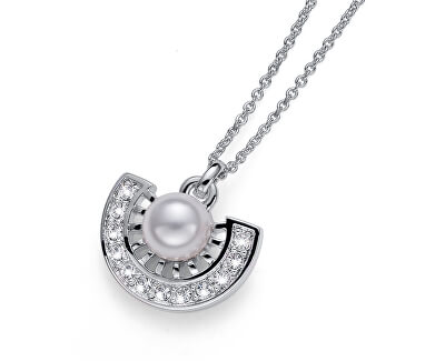 Náhrdelník s kryštálmi a perlou Cleo 11955
