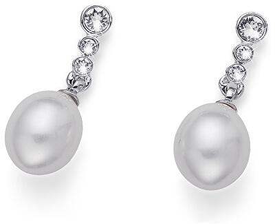 Ohrringe mit Perle und Kristallen Ocean Poet 22620