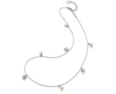 Oceľový náhrdelník s perličkami Stay 11916