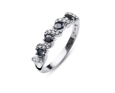 Originálne prsteň s kryštálmi Paso 63236 BLA