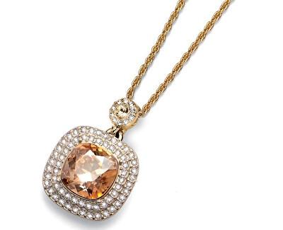 Pozlacený náhrdelník s krystalem Autentic 11335 GOS