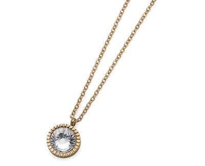 Pozlátený náhrdelník s kryštálom Joy 11972G