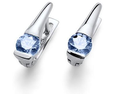 Cercei de argint cu cristale albastre Beach Tender BLU 62068