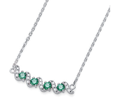 Strieborný náhrdelník s kryštálmi Paso 61146 GRE
