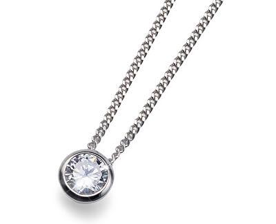 Colier de argint Solitaire 61118