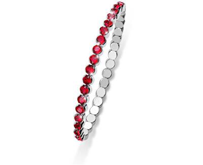 Třpytivý náramek s červenými krystaly Party 31013 227