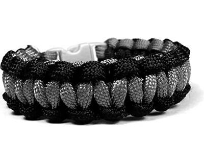 ArmbandSolomon schwarz-grau mit reflektierenden Fäden