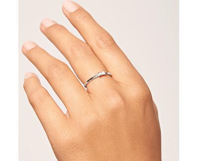 Minimalistický prsten ze stříbra s třpytivým zirkonem AMANI Silver AN02-146