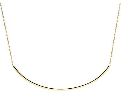 Moderní pozlacený náhrdelník ALPHA Gold CO01-126-U