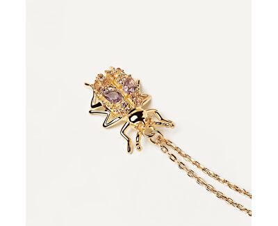 Originální pozlacený náhrdelník WISDOM Beetle Amulet CO01-252-U (řetízek, přívěsek)