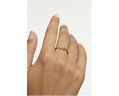 Půvabný pozlacený prsten se zirkony FIVE Gold AN01-210