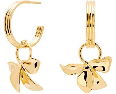 Krásné pozlacené náušnice kruhy IVY Gold AR01-185-U