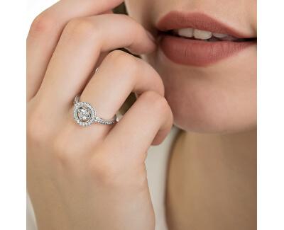 Luxusní třpytivý prsten ze stříbra 191006CZ
