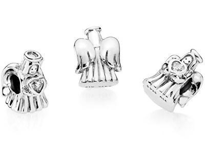Argint șirag de mărgele dragoste înger 792010CZ