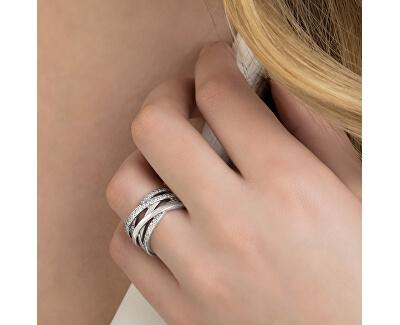 Stříbrný propletený prsten 190919CZ