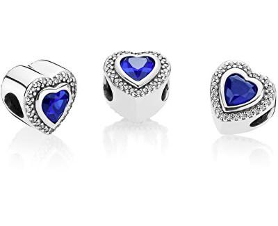 Luxusné srdiečkový korálik s modrým kryštálom 797608NANB