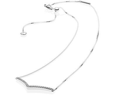 Strieborný náhrdelník s kamienkami 397802CZ-45