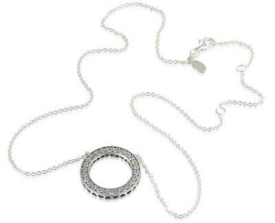 Silberkette mit Kristallanhänger 590514CZ-45