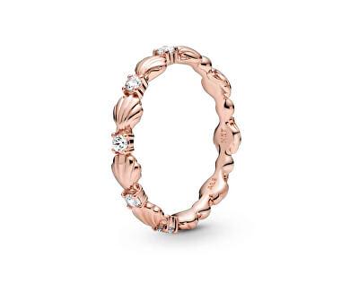Bronzový mušličkový prsten Rose 188946C01