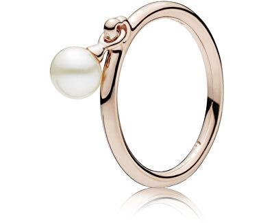 Bronzový prsteň s pravou perlou 187525P
