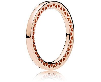 Bronzový srdíčkový prsten 186237 - SLEVA