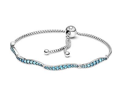Jemný stříbrný náramek s kubickými zirkony 599436C01