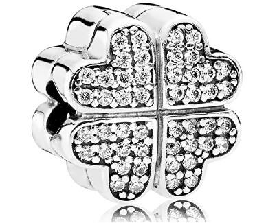 Accesoriu din argint cu cristale clare - brățară tip PANDORACloverleaf 791805CZ