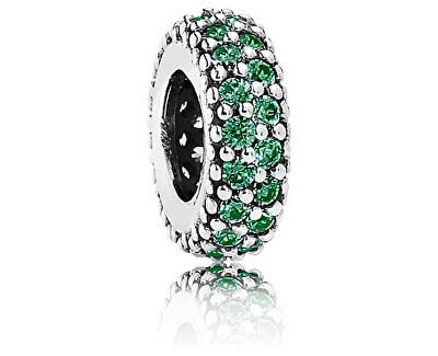 Trennperle mit grünen Kristallen 791359CZN